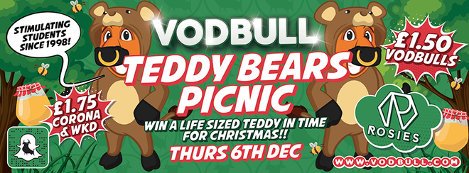 🐻Vodbull Teddy Bears' Picnic!🐻 {FINAL TICKETS!!}🐻