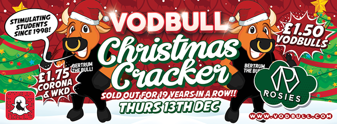 🎄Bertrum's Christmas Cracker!!🎄 {SOLD OUT!! 200 tics on the door from 11pm!}