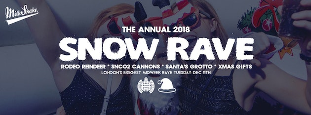The Official Snow Rave 2018 ❄️Ministry of Sound | Milkshake