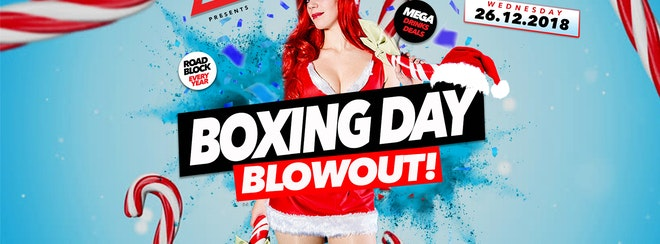 Boxing Day Blowout 26.12.18 Halo Bournemouth