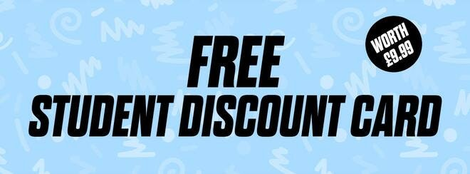 FREE Student Discount Card – Worth £9.99!