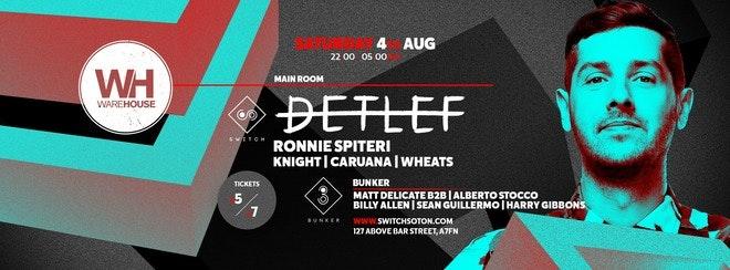 Detlef • This Saturday / Final £6 tickets