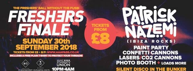 Solent Freshers Finale • Sunday 30th September