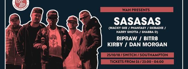 SASASAS • This Thursday / Final £8 tickets