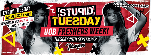 Stupid Tuesday – 100 on the door from 10:30pm – TONIGHT!