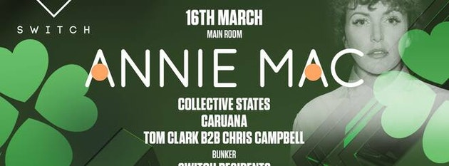 Annie Mac • Saturday 16th March / St Patricks Day Special