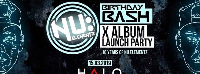 BACK TO BASS:ICS & TNA proudly present …   NU: ELEMENTZ BIRTHDAY BASH 2019
