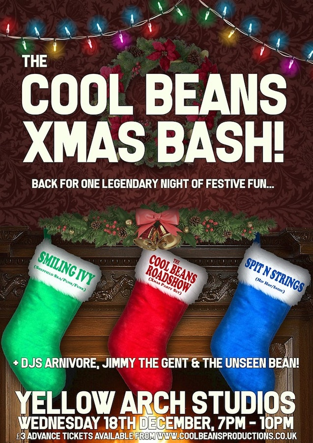 The Cool Beans Xmas Bash! With Smiling Ivy & Spit 'N' Strings!