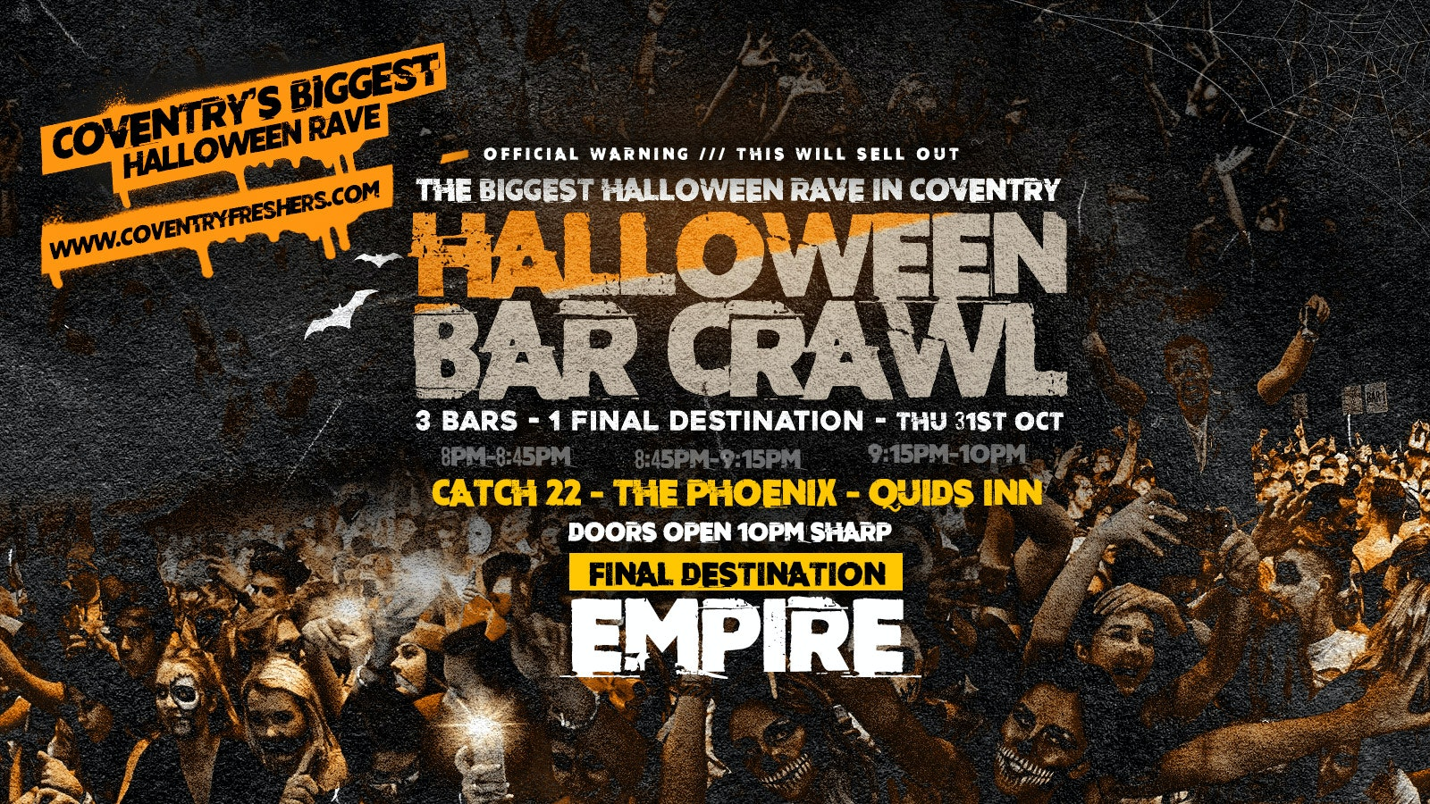 The Halloween Bar Crawl // Coventry Halloween 2019