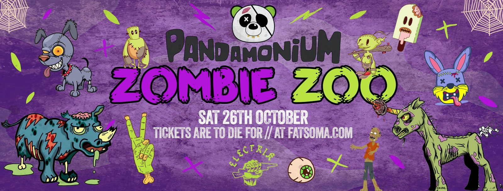 Pandamonium Saturdays presents the ZOMBIE ZOO Halloween Special