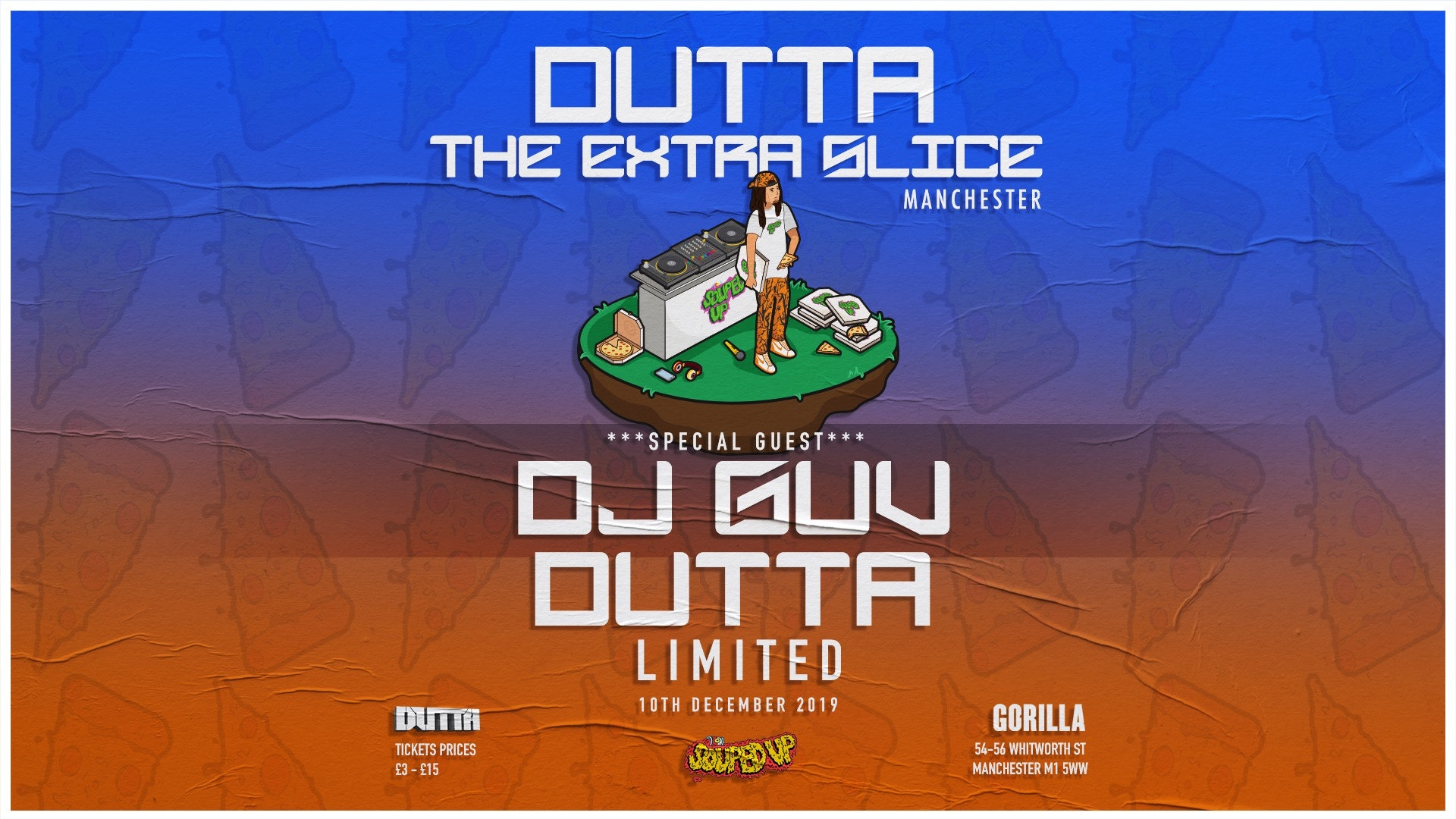 Dutta – The Extra Slice Tour w/ DJ GUV