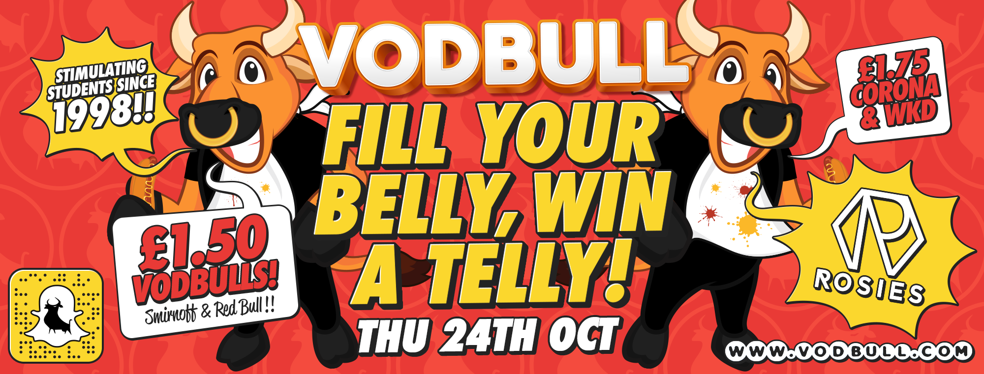 Vodbull FILL YOUR BELLY, WIN A TELLY!