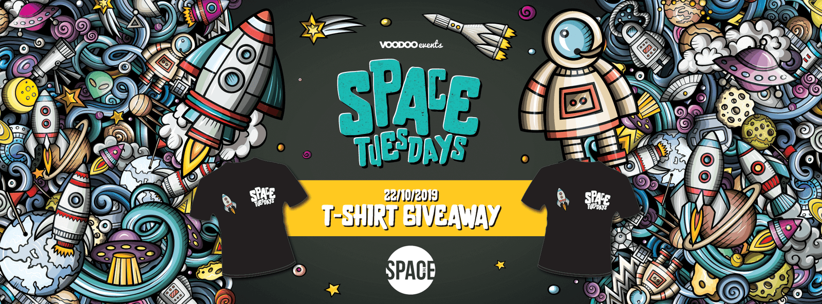 Space Tuesdays : Leeds – T Shirt Giveaway