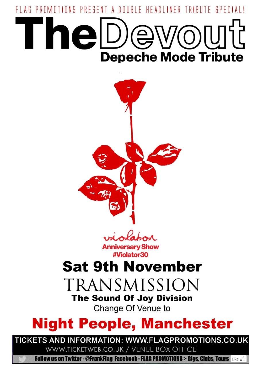 The Devout DEPECHE MODE Tribute + Transmission JOY DIVISION Tribute