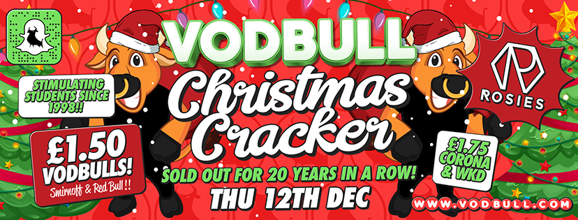 Vodbull **OVER 75% SOLD OUT*** CHRISTMAS CRACKER!!