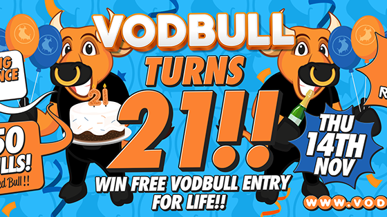 Vodbull ***SOLD OUT!!*** TURNS 21!!