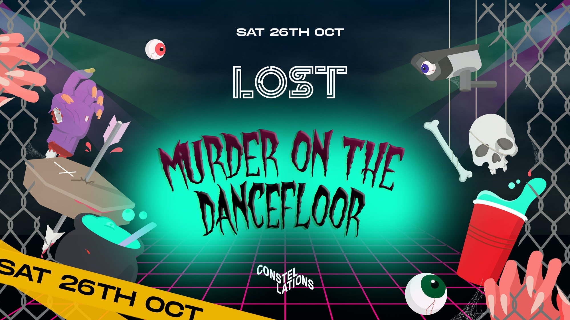 LOST : Murder On The Dancefloor : Constellations : Thurs 31st Oct