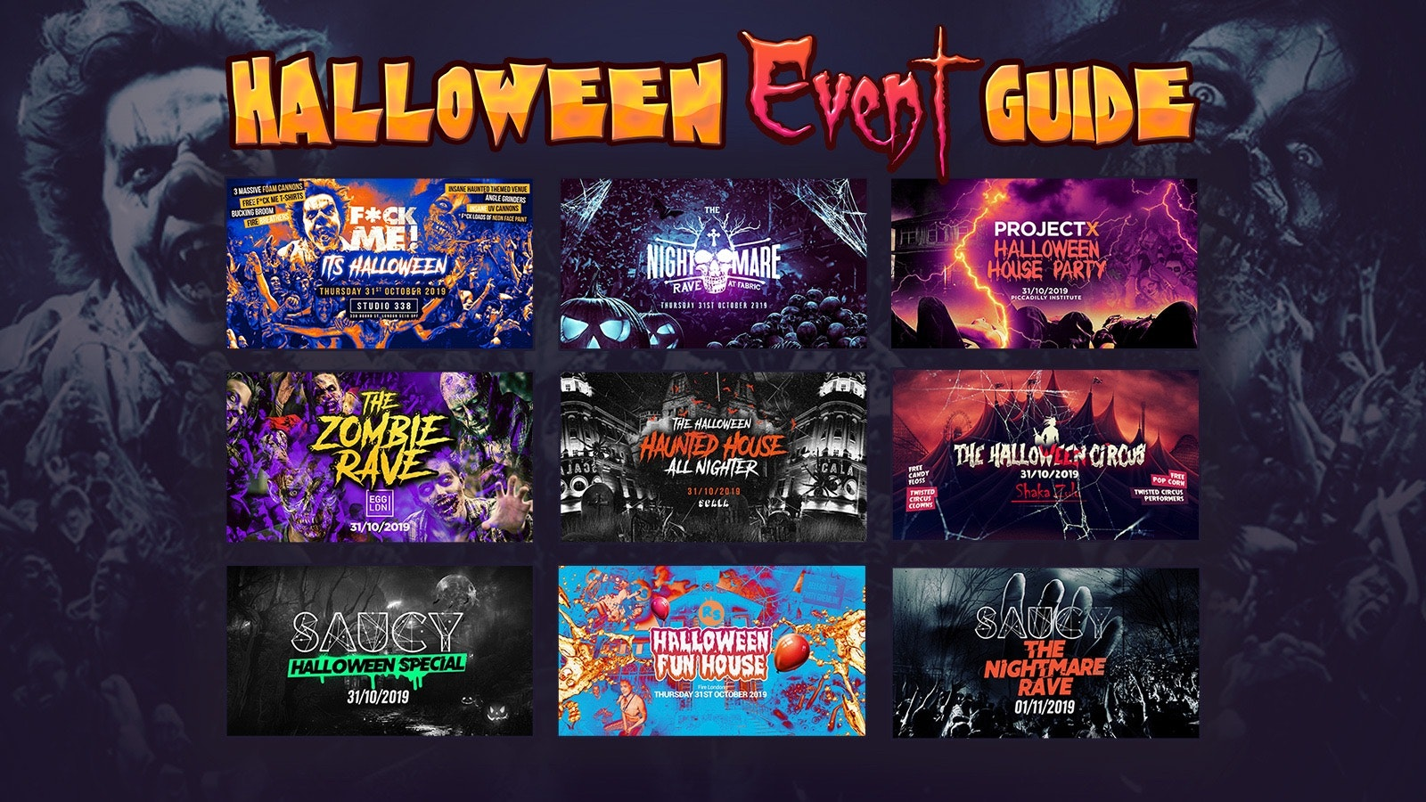 The 2019 Complete London Halloween Guide – The Biggest London Halloween Event Guide Of 2019