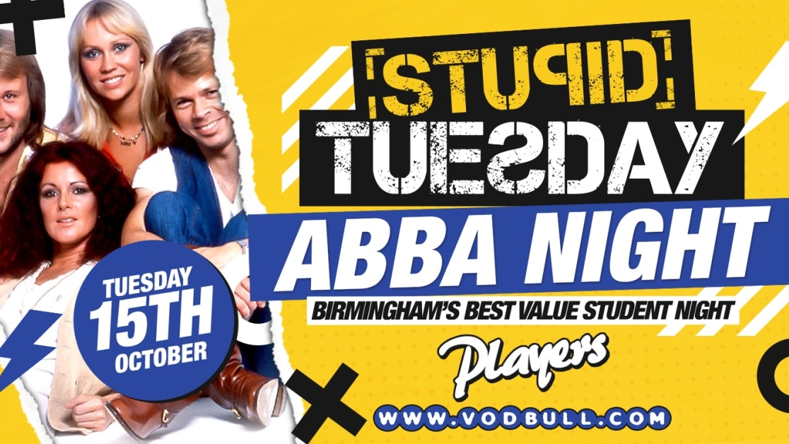 FINAL 100 TICKETS 🕺Stuesday: Abba Night🕺