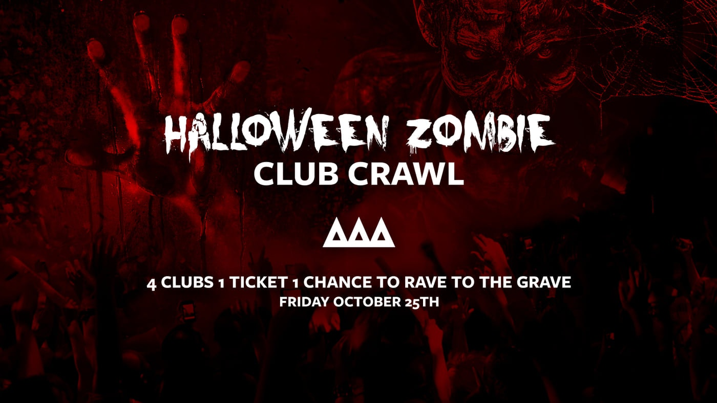 The Access All Areas Halloween Zombie Club Crawl 2019