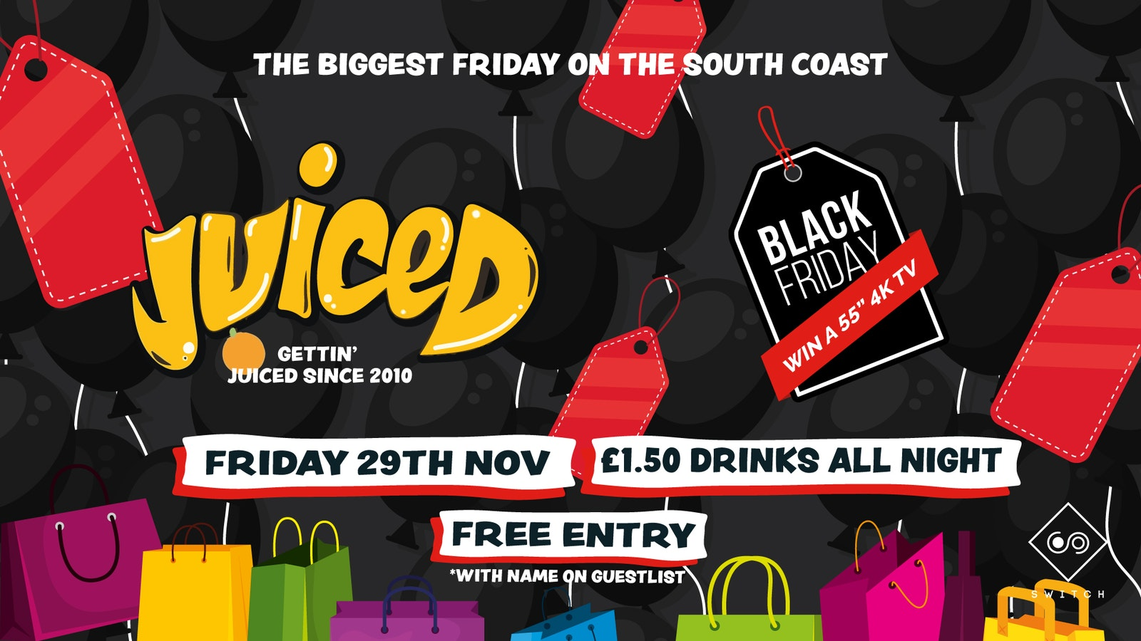Juiced: Black Friday – £1.50 Drinks