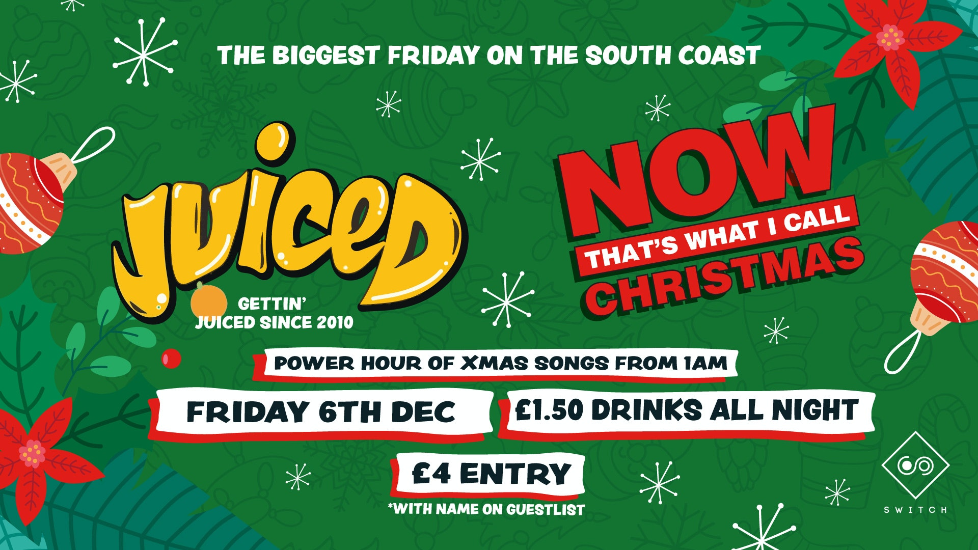 Juiced: Now Thats What I Call Christmas – £1.50 Drinks