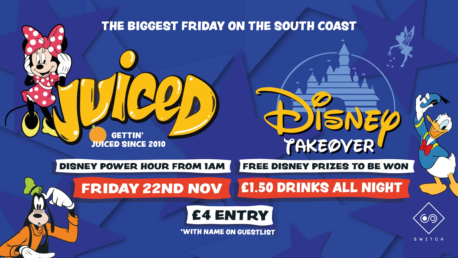 Juiced: Disney Takeover – £1.50 Drinks