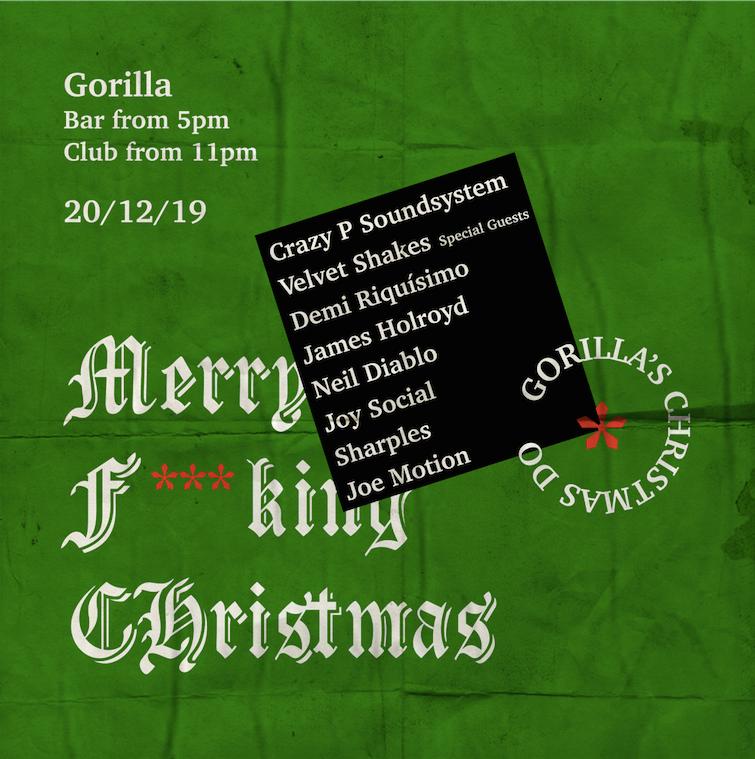 Crazy P Soundsystem – Gorilla Christmas Do
