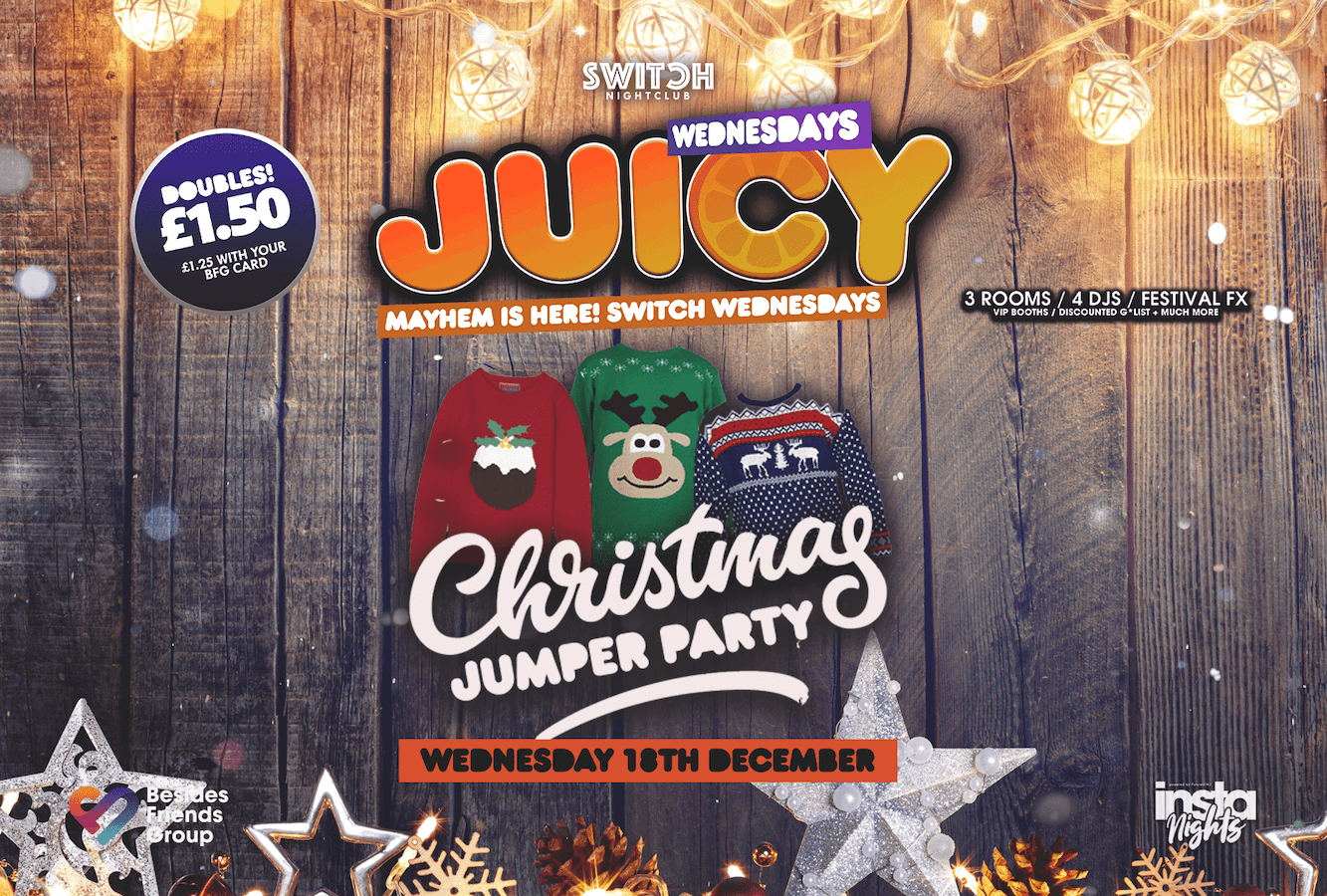 Juicy Wednesdays Presents Christmas Jumper Party