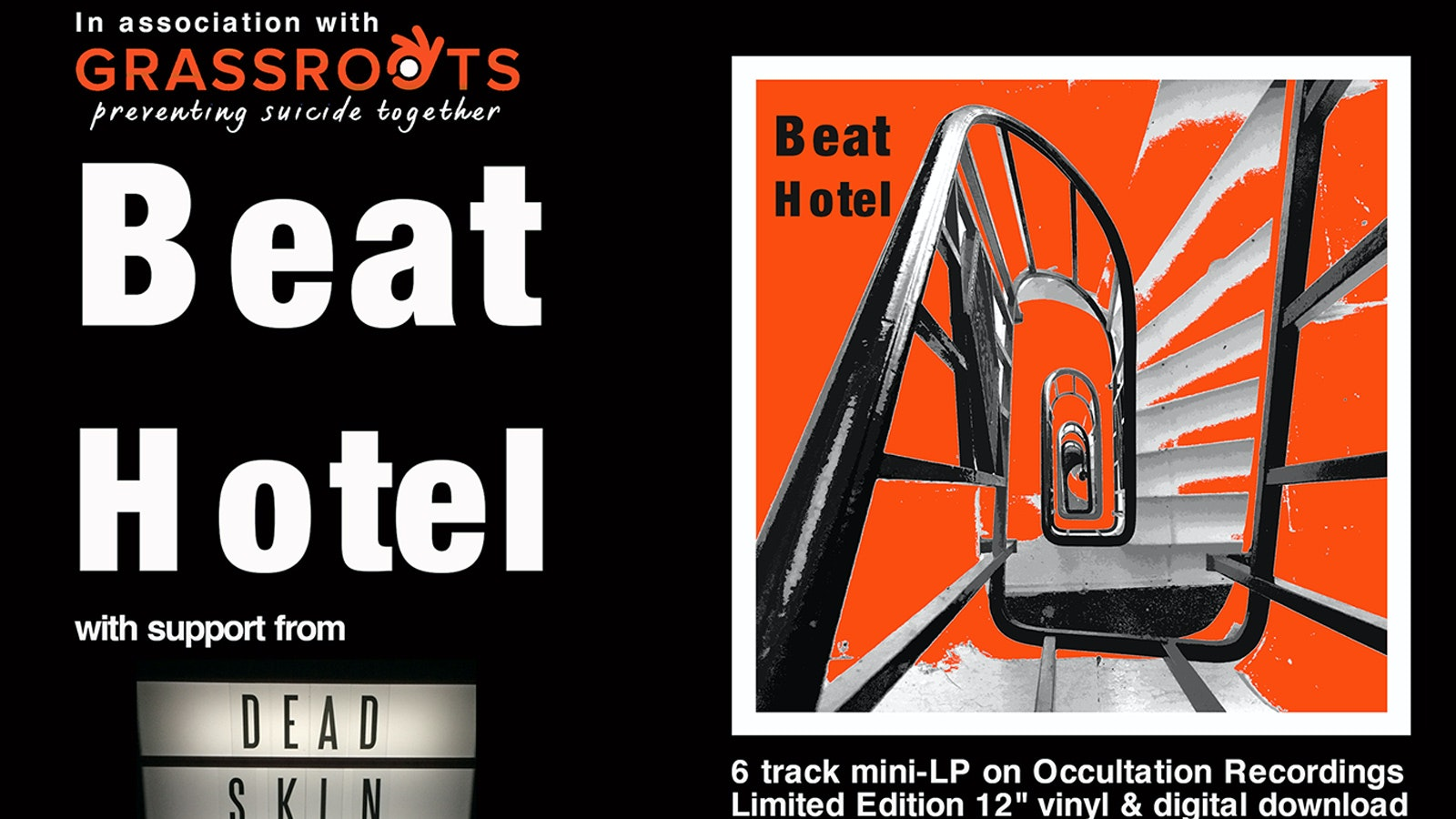 Beat Hotel EP Launch in aid of Grassroots Suicide Prevention