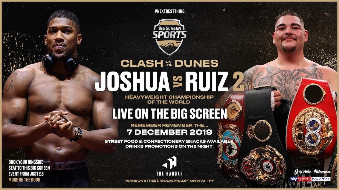 Joshua vs Ruiz 2 | Big Screen Sports