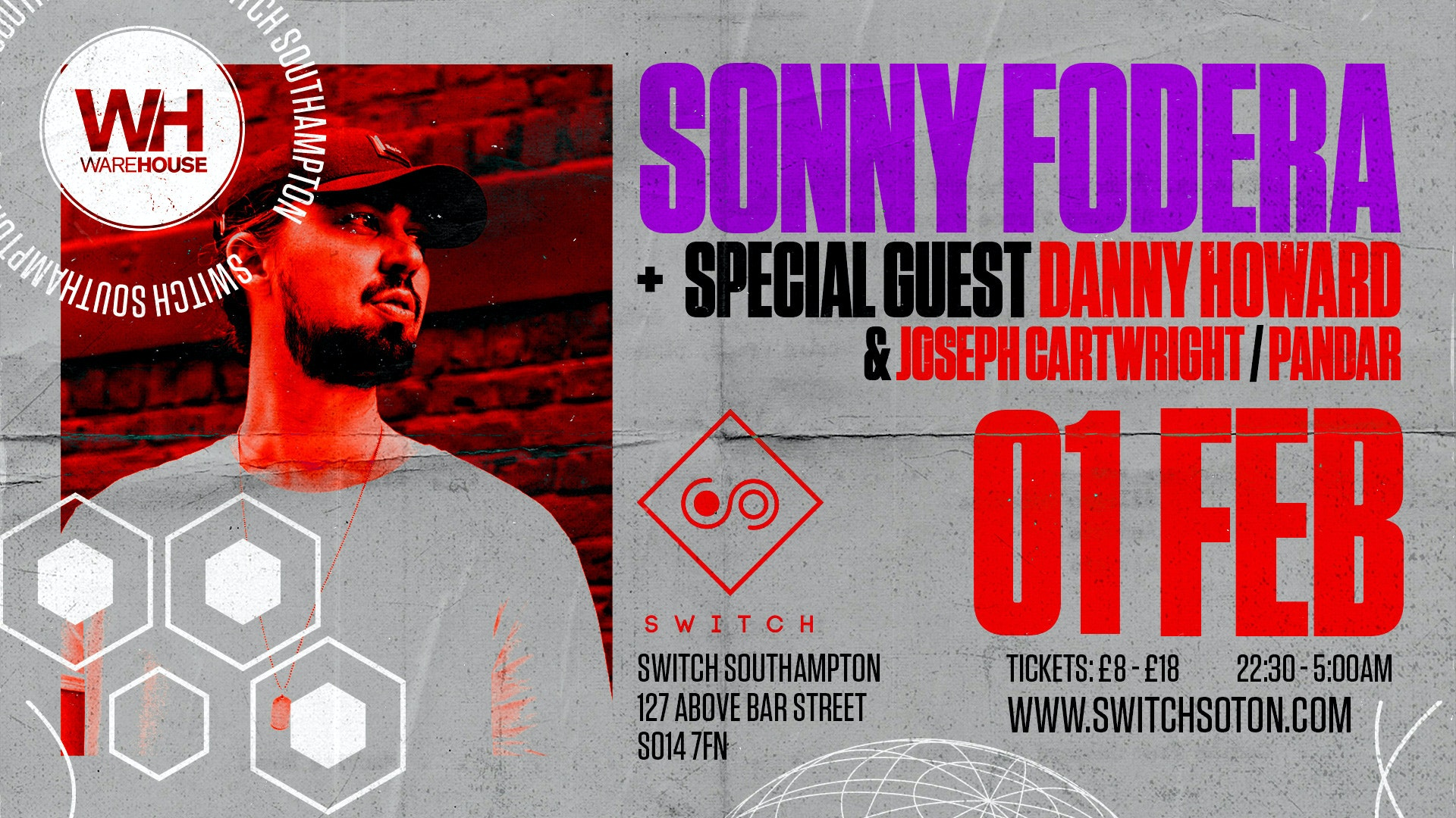 Warehouse Presents: Sonny Fodera