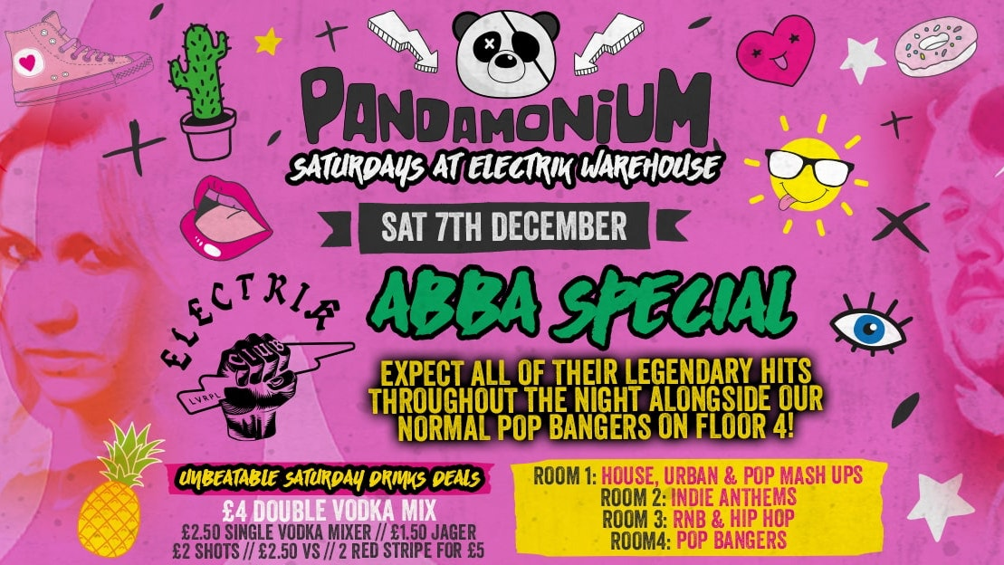 Pandamonium Saturdays – ABBA Special on Pop Floor!