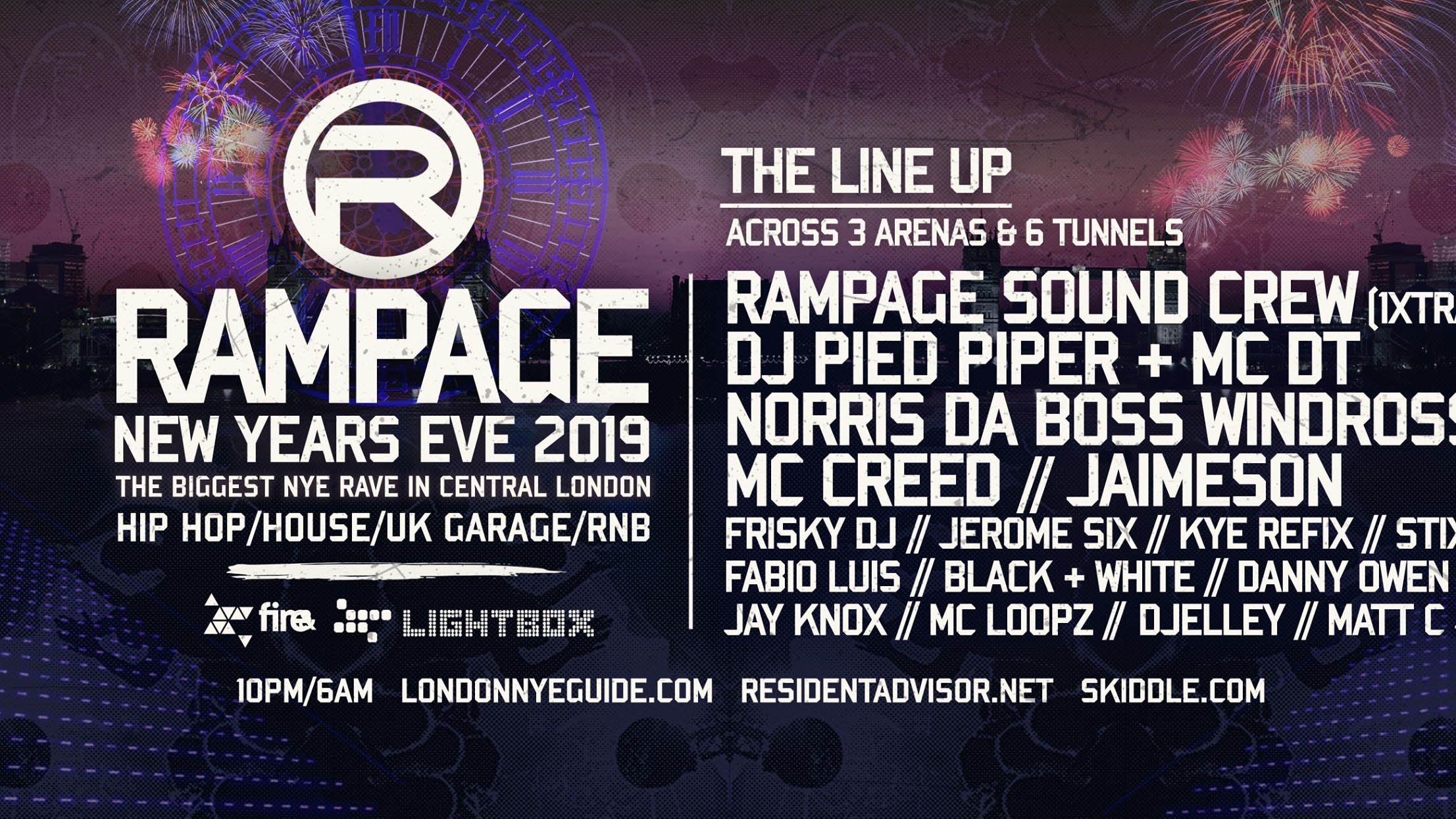 Rampage Sound New Years Eve Rave | Fire & Lightbox