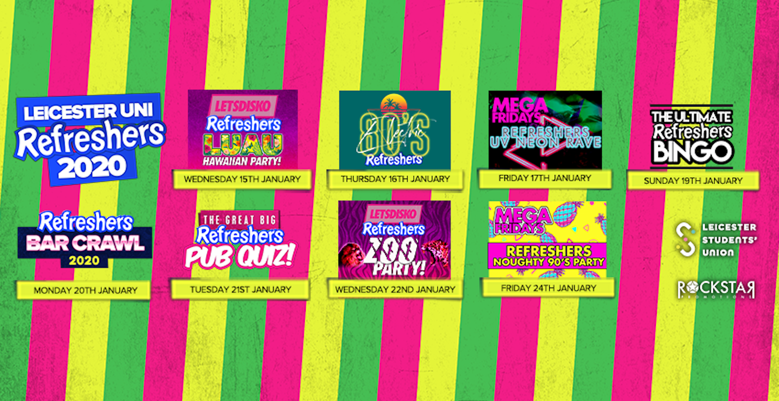 Leicester Uni Refreshers 2020! 8 Events > 1 Wristband > ONLY £11!