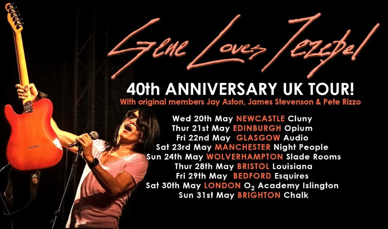 Gene Loves Jezebel 40th Anniversary Tour