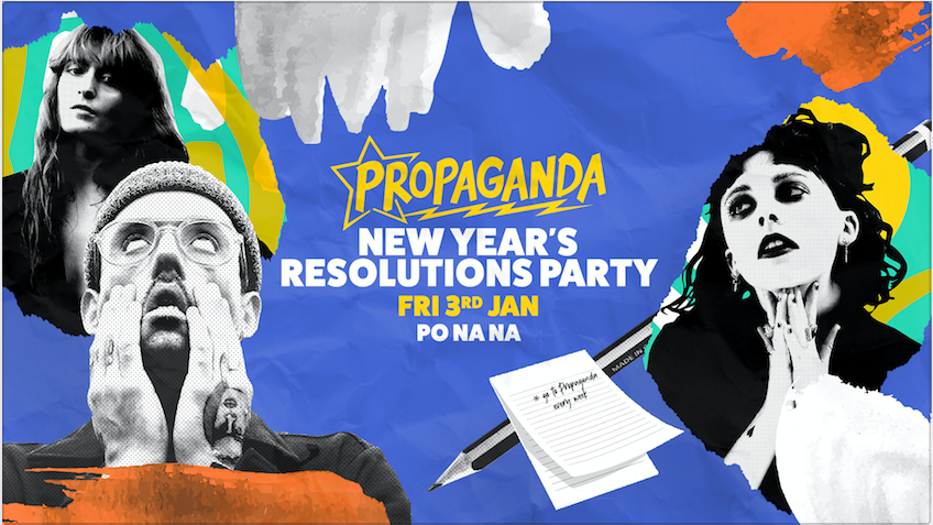 Propaganda Bath – New Year's Resolutions Party