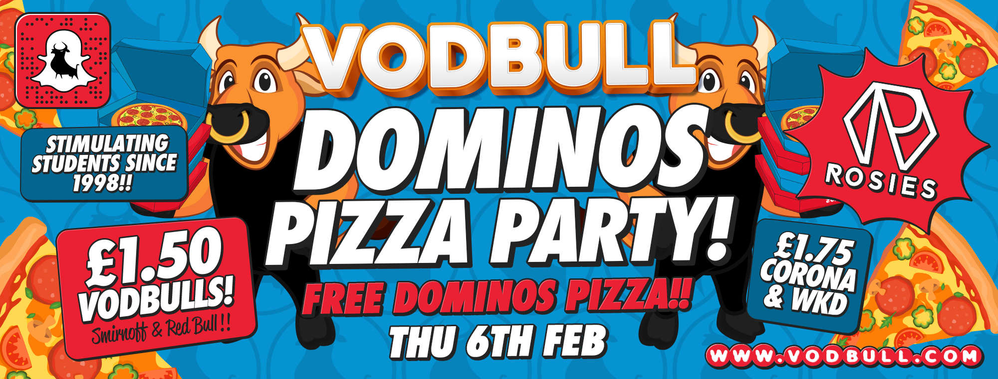 Vodbull 🍕 DOMINOS PARTY!! 🍕