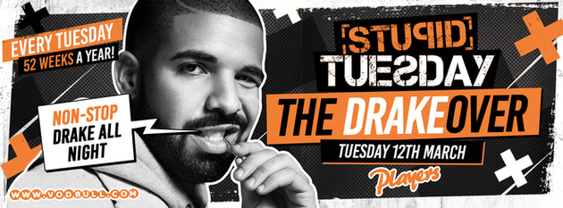 ⭐ Stuesday – The Drakeover ⭐ FINAL 25 TICKETS