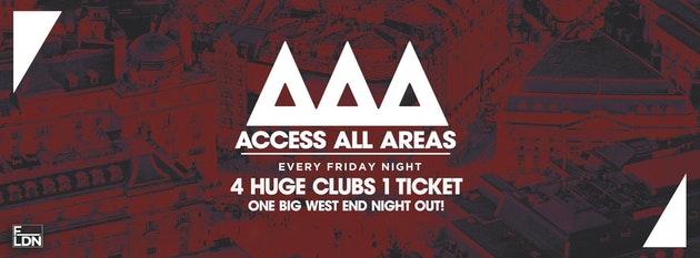 Access All Areas – Club Crawl Tonight! | £5 Tickets £3.50 Drinks