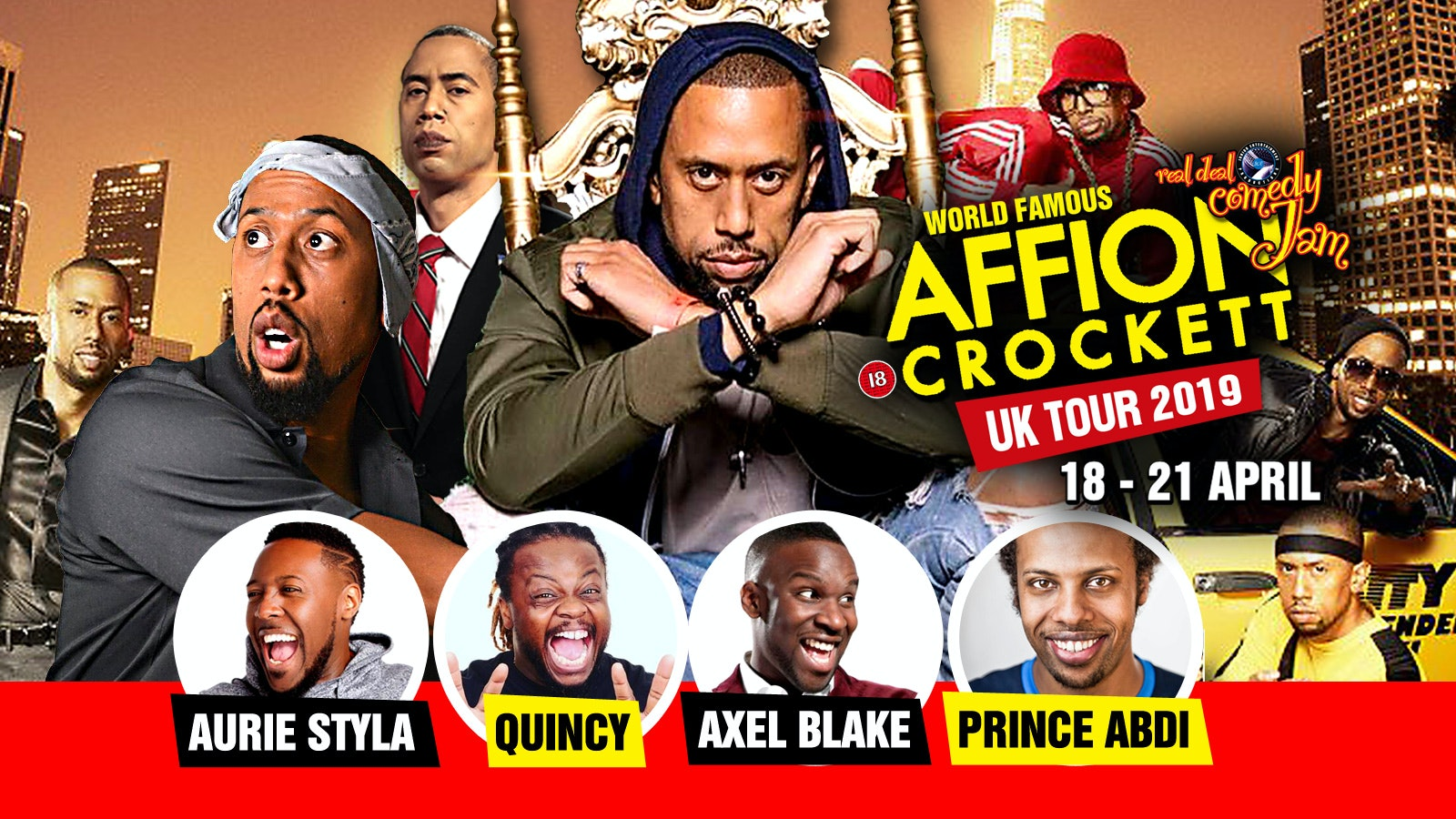 Nottingham – Real Deal Comedy Jam Easter starring Affion Crockett