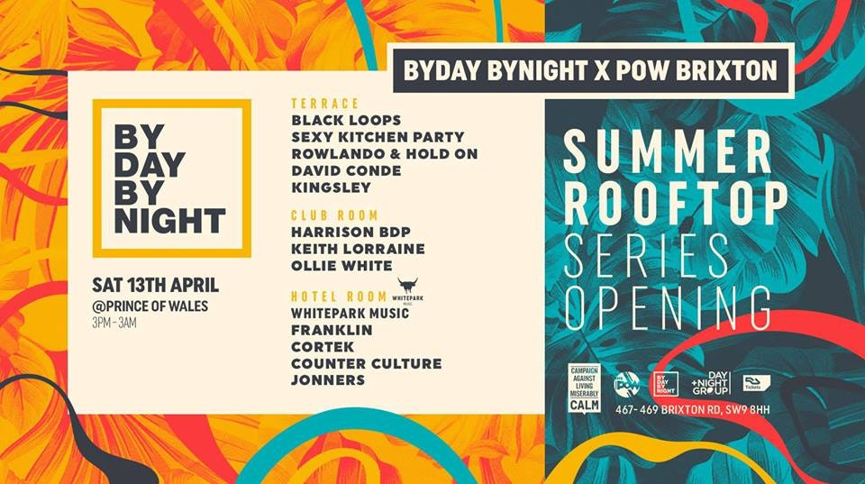 Brixton's Rooftop Summer party series: Black Loops, Harrison BDP