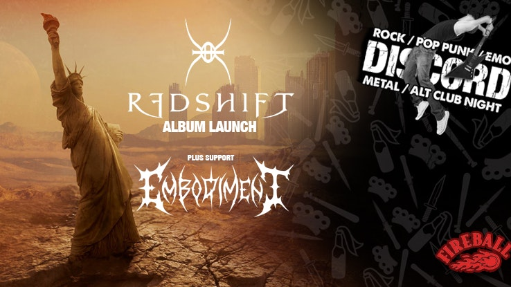 Discord presents: Redshift (Album Launch) + Embodiment