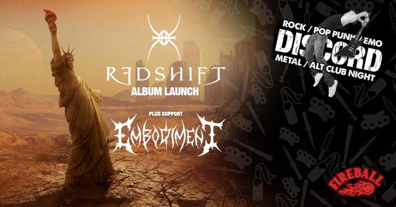 Discord presents: Redshift (Album Launch) + Embodiment