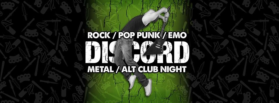 DISCORD – Rock, Pop Punk, Emo, Metal & Alternative
