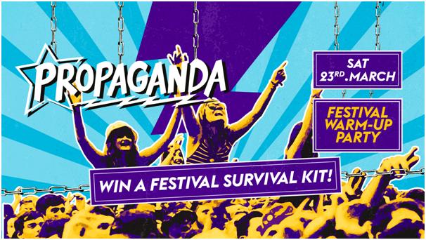 Propaganda Sheffield & Dirty Deeds – Festival Warm-Up Party!