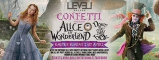 Confetti Bank Holiday Sunday -Alice in wonderland –  Down the Rabbit hole