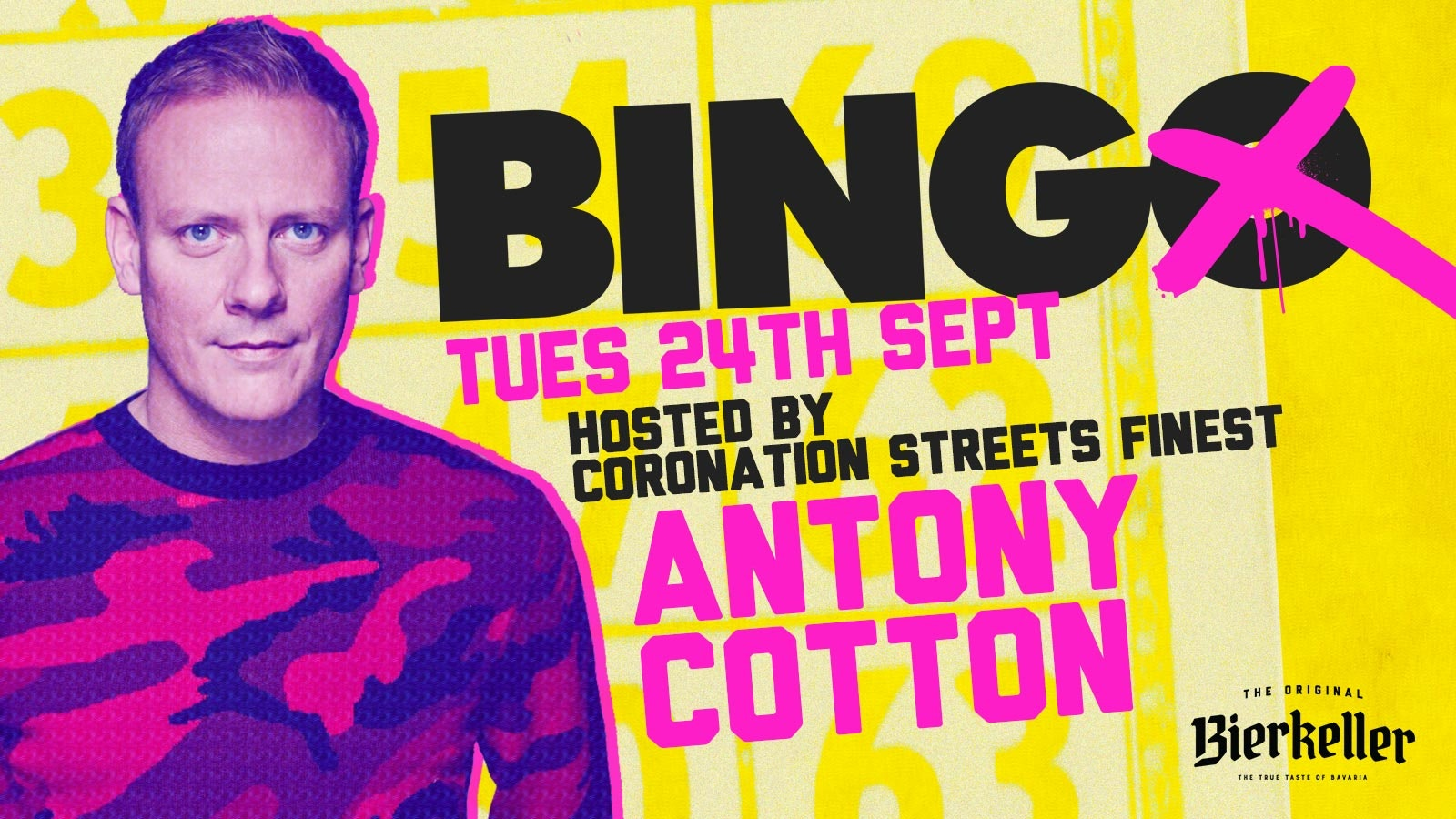 Bingo Hosted By Antony Cotton