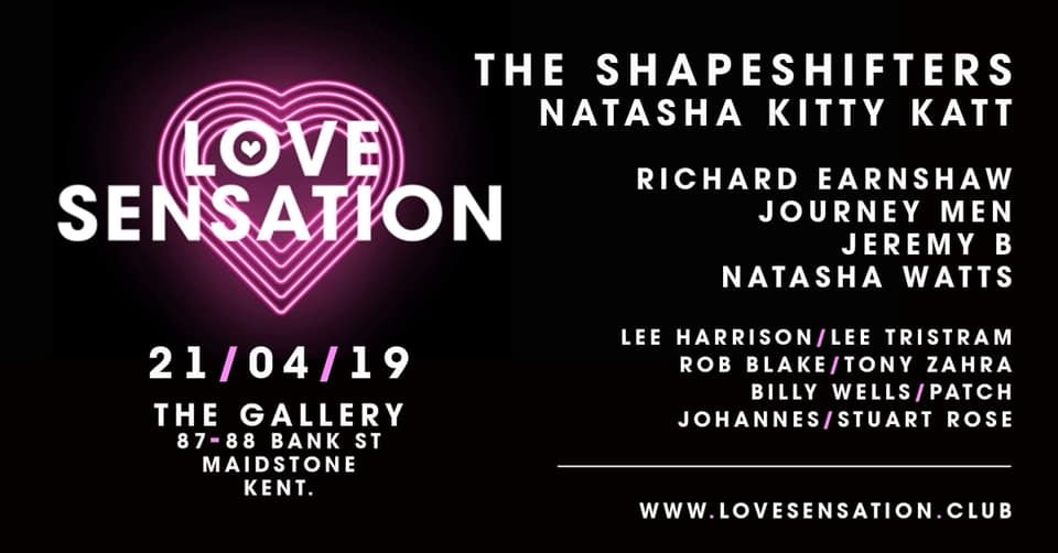 Love Sensation Easter Sunday with The Shapeshifters (Glitterbox)