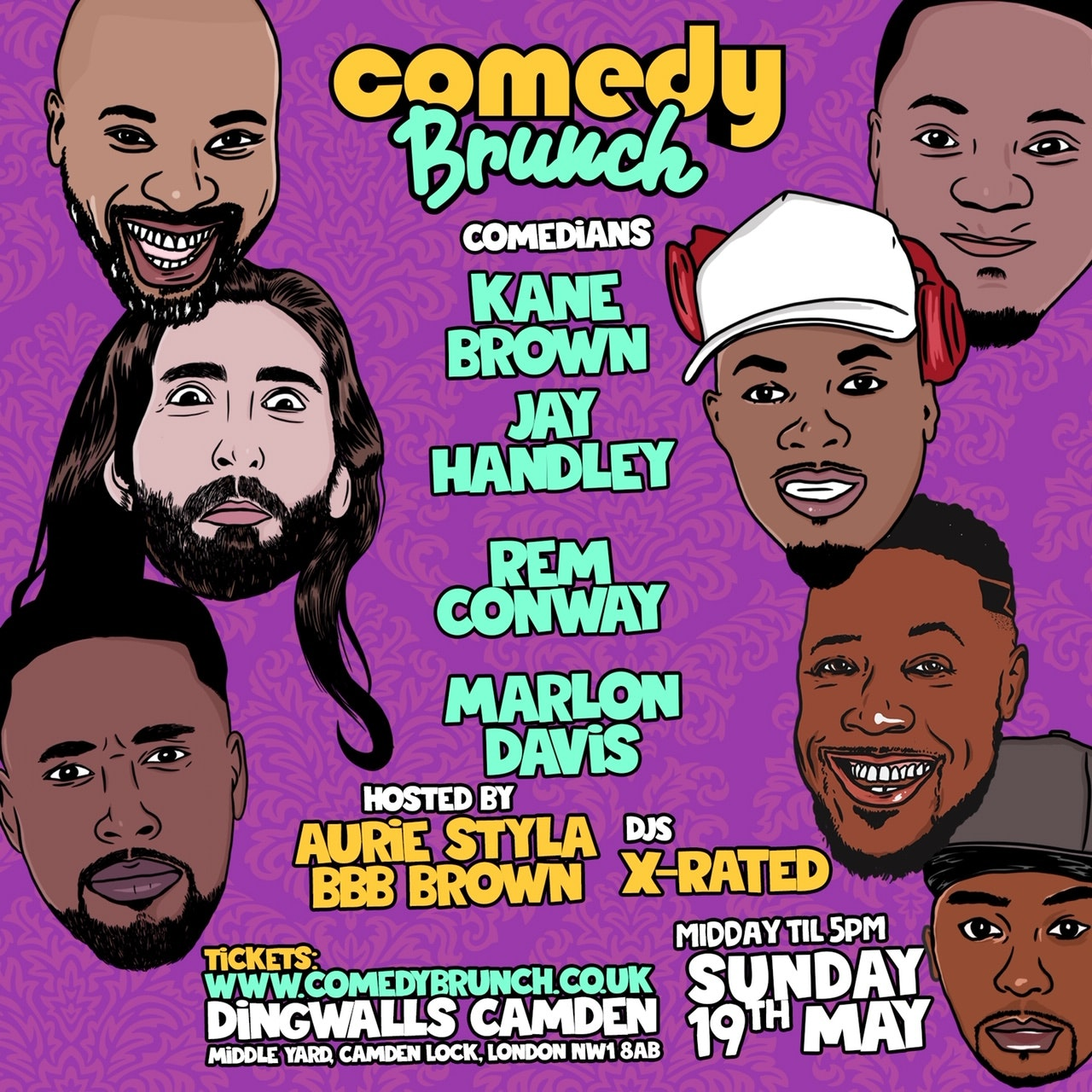 Comedy Brunch – 19th May